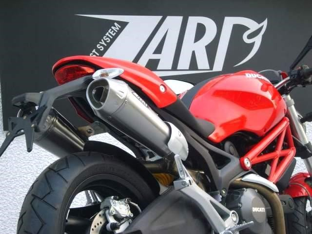 ZARD EXHAUST SYSTEM CONIC MUFFLERS DUCATI MONSTER 696