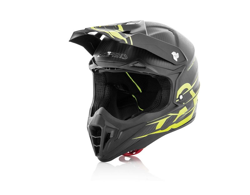 ACERBIS HELMET IMPACT CARBON 3.0 BLACK/YELLOW