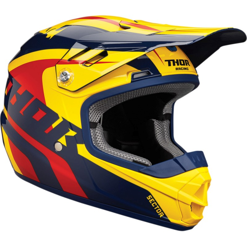 THOR YOUTH RICHOCHET NAVY/YELLOW HELMET